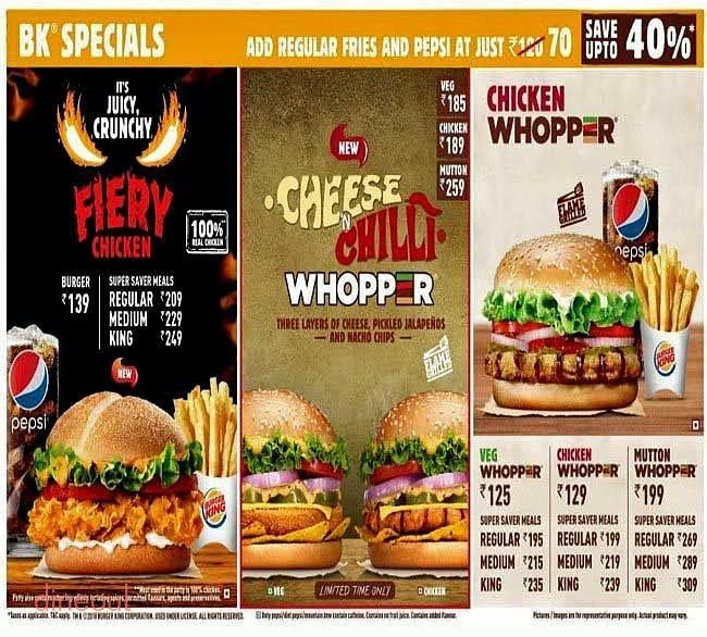 Kitchen King Ahmedabad Menu Of Burger King Gurukul Ahmedabad Dineout Discovery