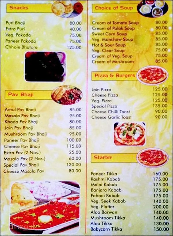 Restaurant Veg Menu Of Gharonda Veg Restaurant Pimpri Pune Dineout