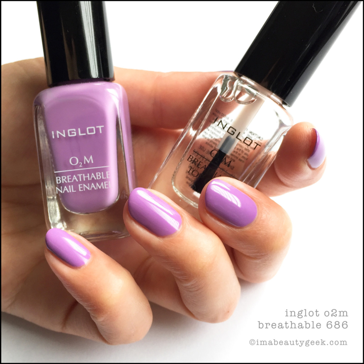 Inglot O2m Breathable Nail Enamel Swatches Review