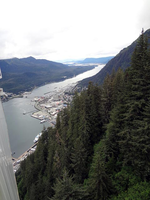 Juneau from the top of the tramway