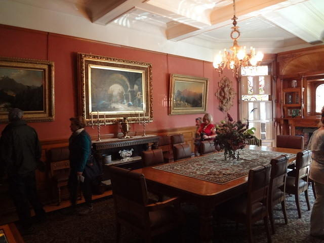 One of the dining rooms in Craigdarroch Castle