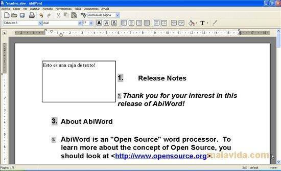 AbiWord 292 - Descargar para PC Gratis