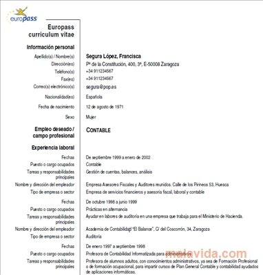 Europass CV - Download for PC Free