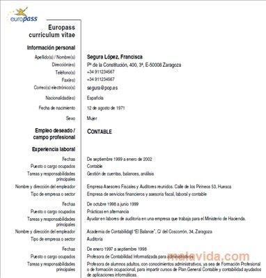 Download Europass CV - Free