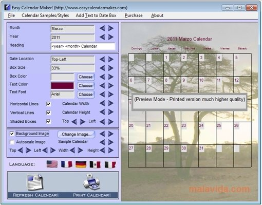 Download Easy Calendar Maker! for PC - Free