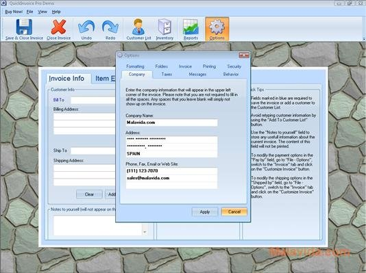 Quick Invoice Pro 311 - Download for PC Free