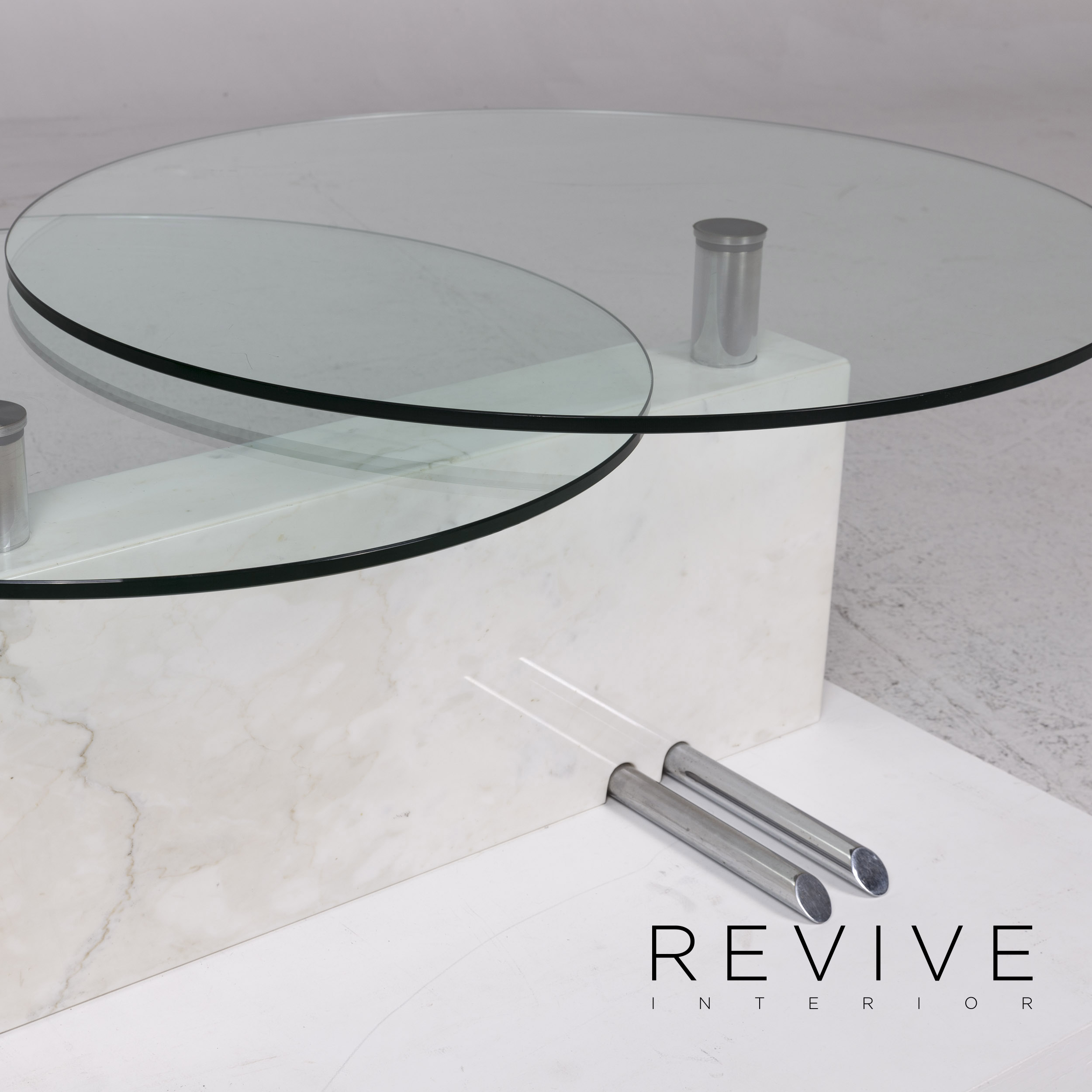 Rolf Benz Glass Marble Coffee Table Feature Table 12191 Ebay