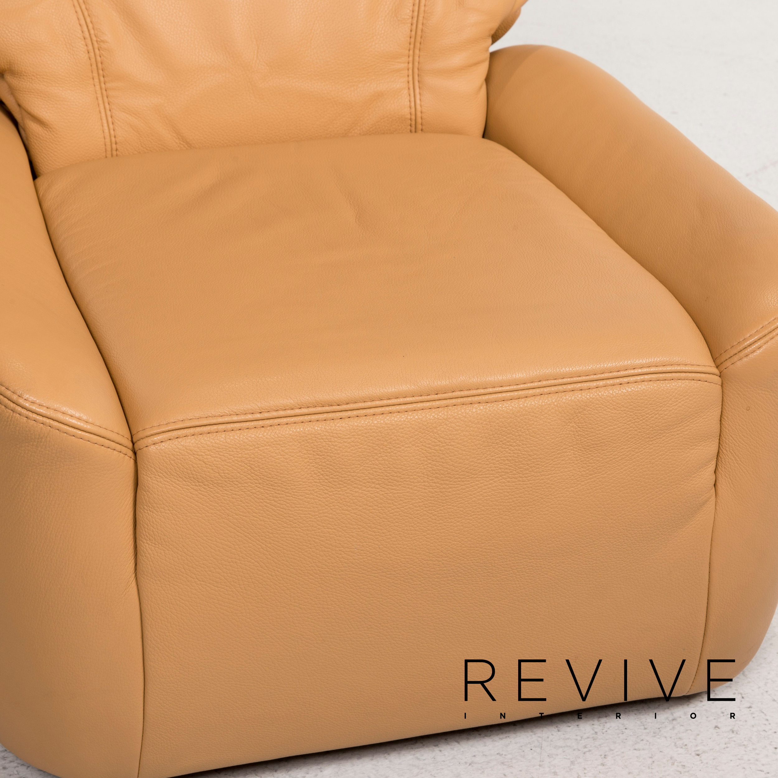 Himolla Leather Stool Chair Beige Feature 12654 Ebay