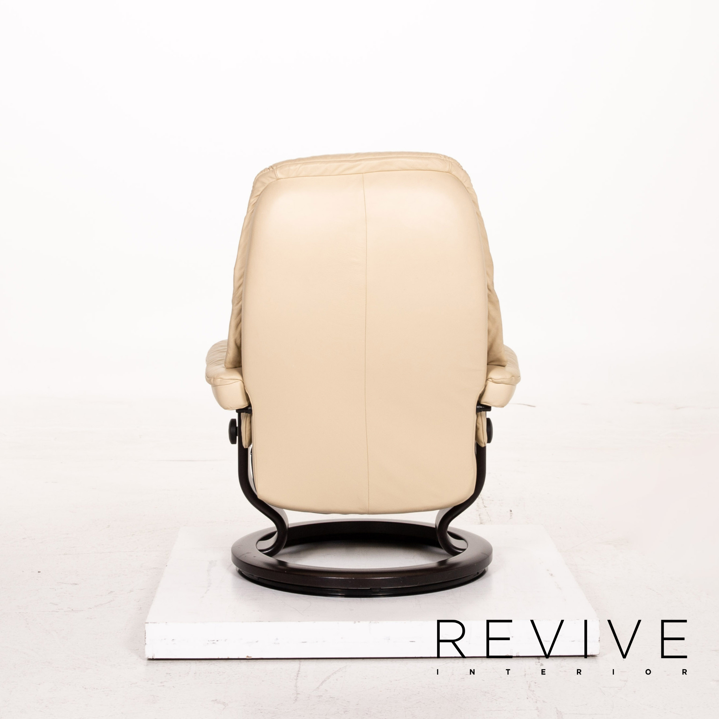 Stressless Sunrise Leather Chairs Incl Stool Cream Reclining Function Function Ebay
