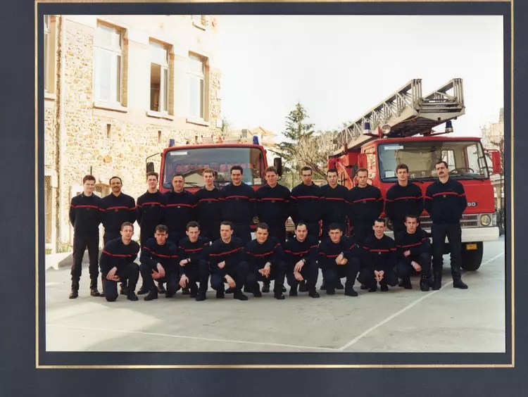 Les Pour Salon Photo De Classe Pompiers De Paris De 1990, Brigade De