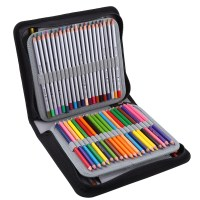 120 Slots Handy Deluxe PU Leather Colored Pencil Holder ...