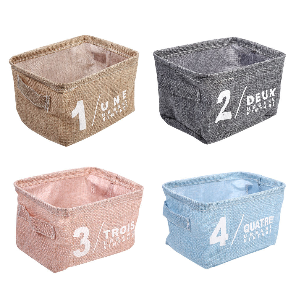 Stationary Boxes Details About Cotton Linen Storage Boxes Basket Holder Cosmetic Stationery Organizer Case Jj