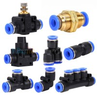 8 Types Pneumatic Fittings Air Valve Water Hose Tube Pipe