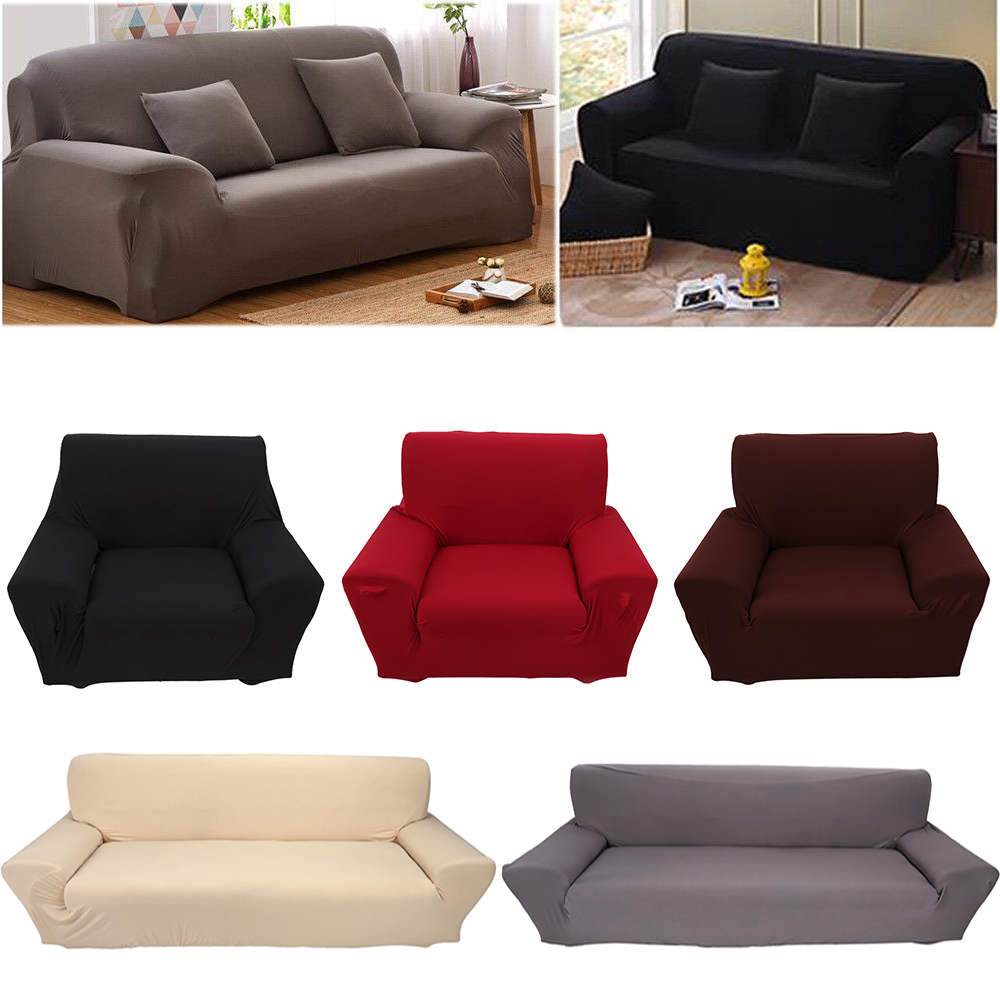 Corduroy 3 Seater Sofa Details About Solid Stretch Sofa Loveseat Chair Cover Slipcover Furniture Cover 1 2 3 4 Seater