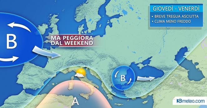 Una domenica con pioggia e vento sulla Romagna