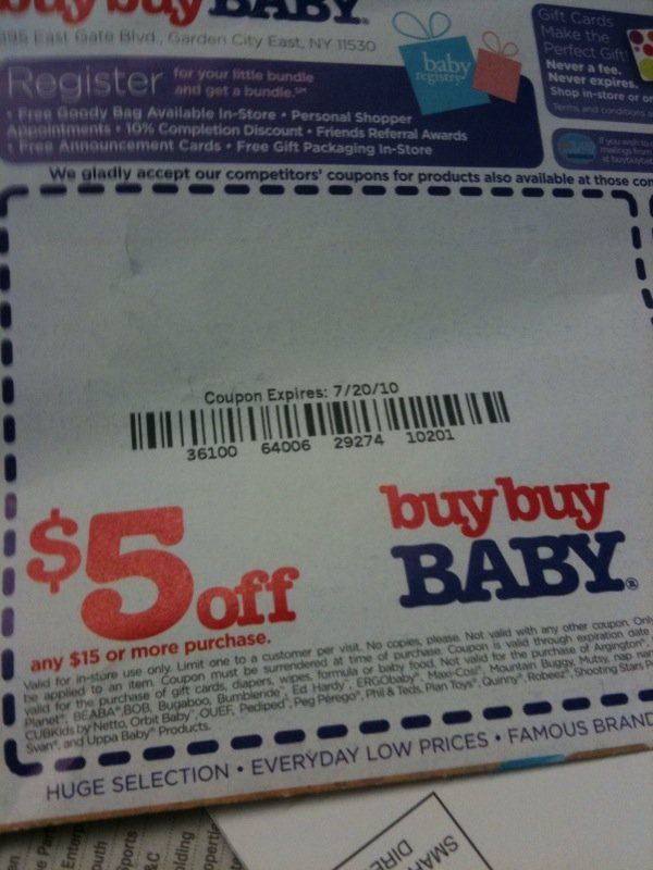 Buy Buy Baby Coupons Accepted at Bed Bath  Beyond AL - buy buy baby job application