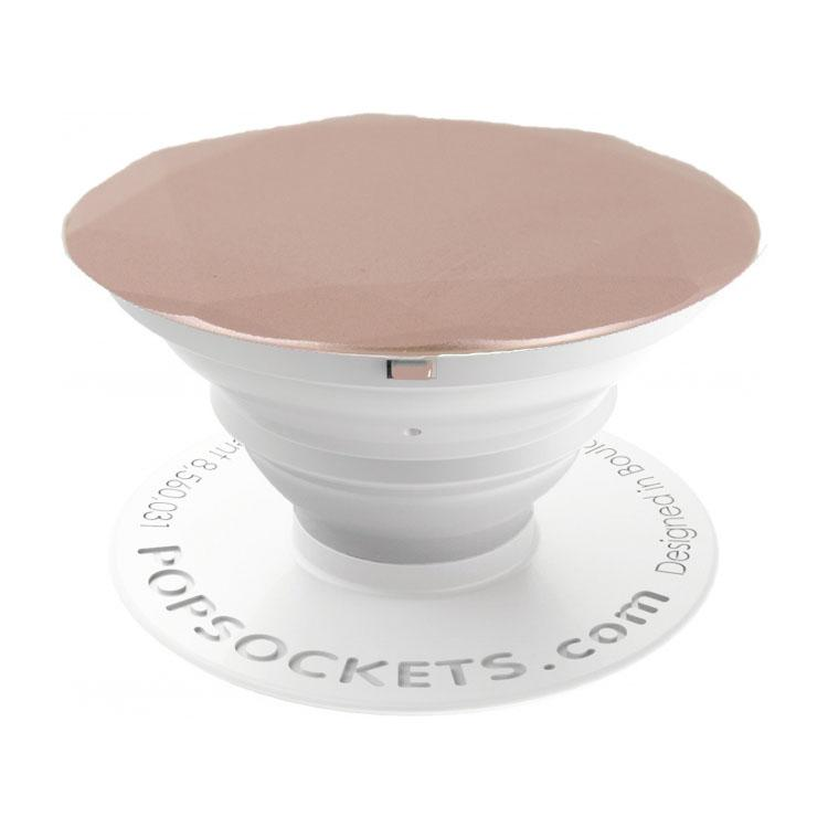 Action Led Kaarsen Popsockets Expanding Stand/grip Rose Gold Metallic Diamond