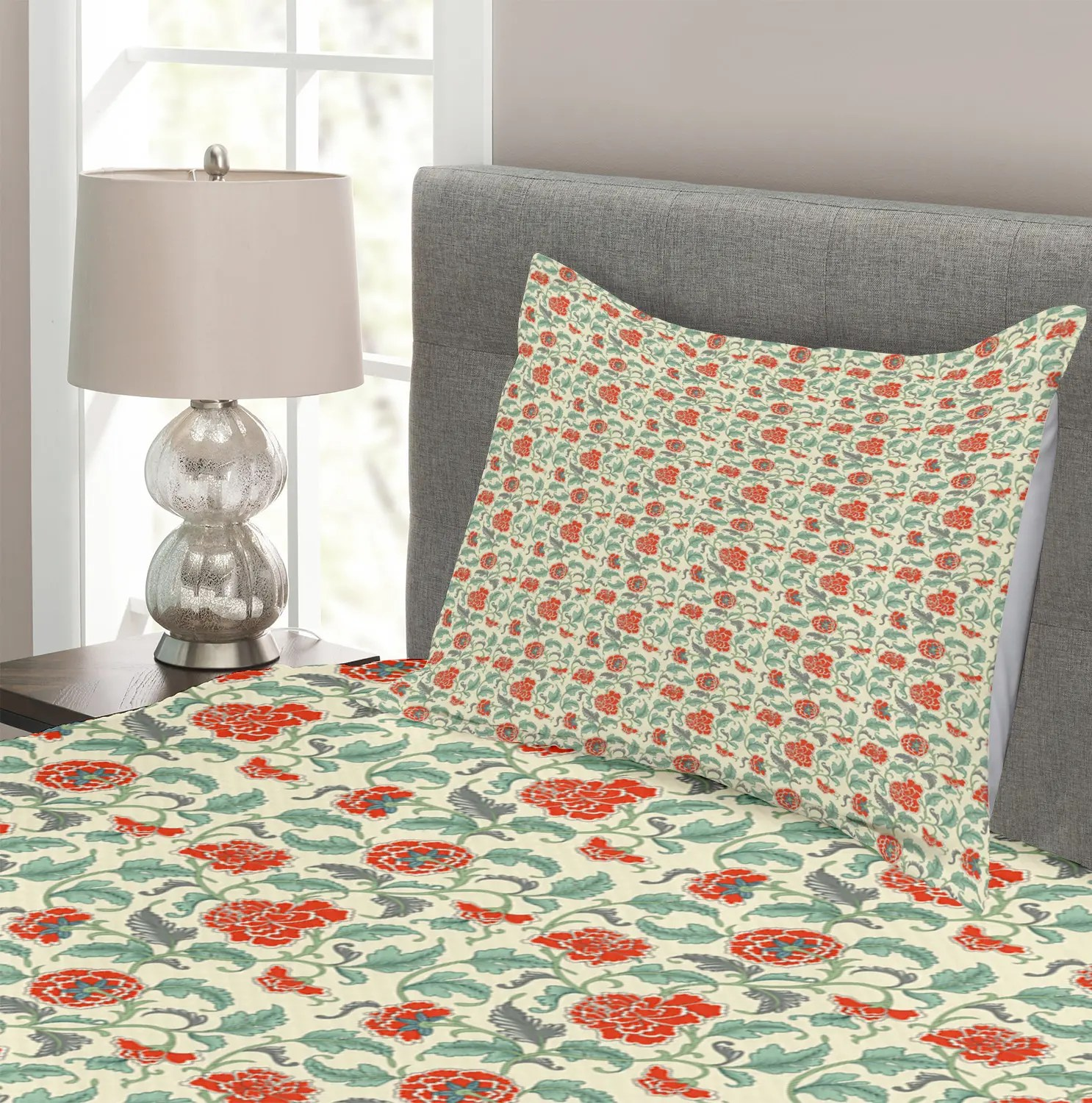 Deadpool Bettwäsche Asian Quilted Bedspread Pillow Shams Set Eastern Inspired