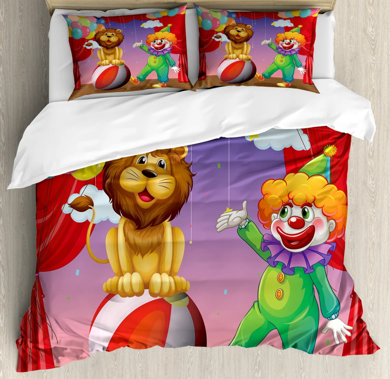 Zirkus Bettwäsche Set Lion Clown Leistung Ebay