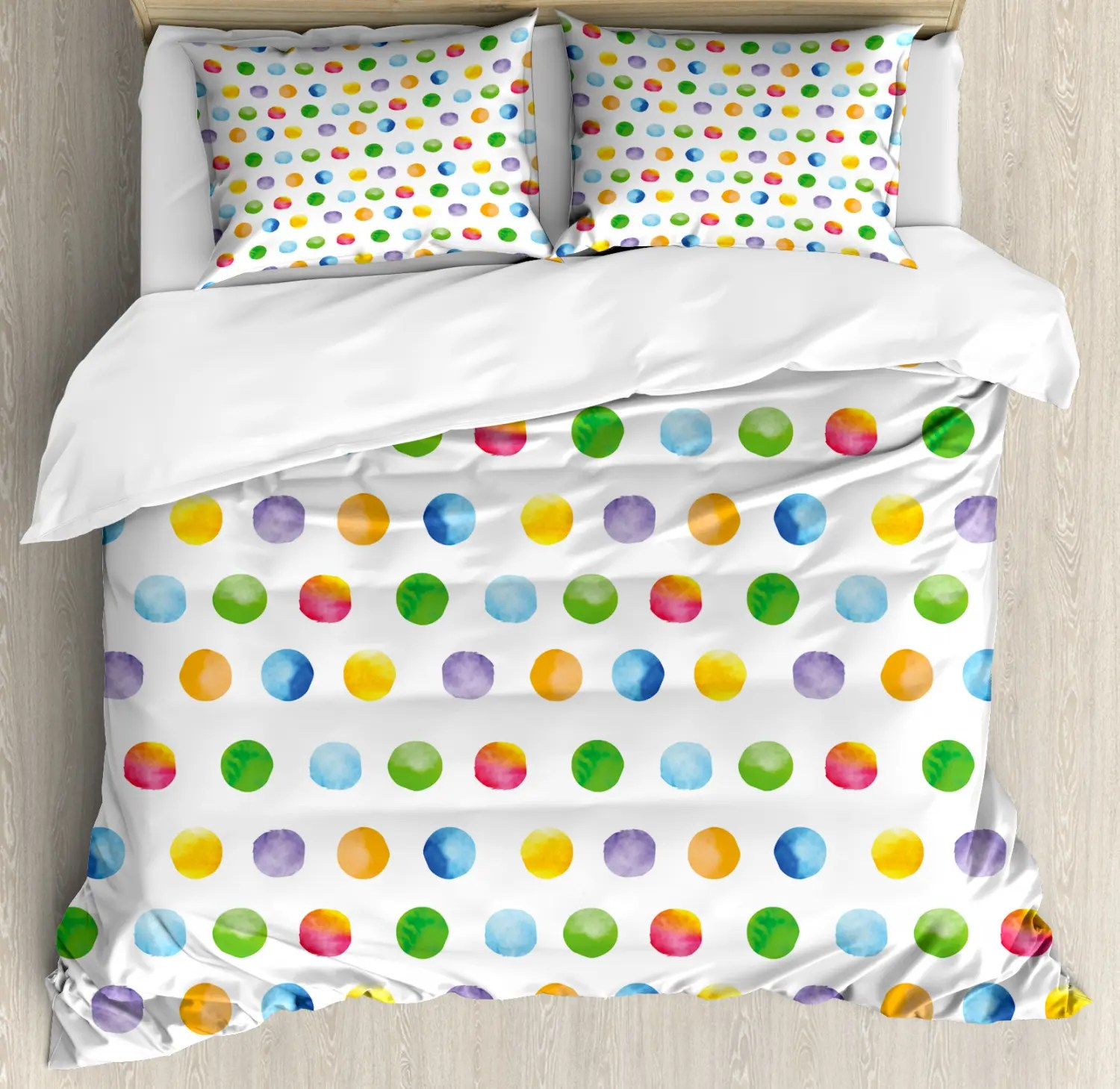 Detektiv Conan Bettwäsche Abstract Duvet Cover Set Pillow Shams Colord Big Dots Print Polka