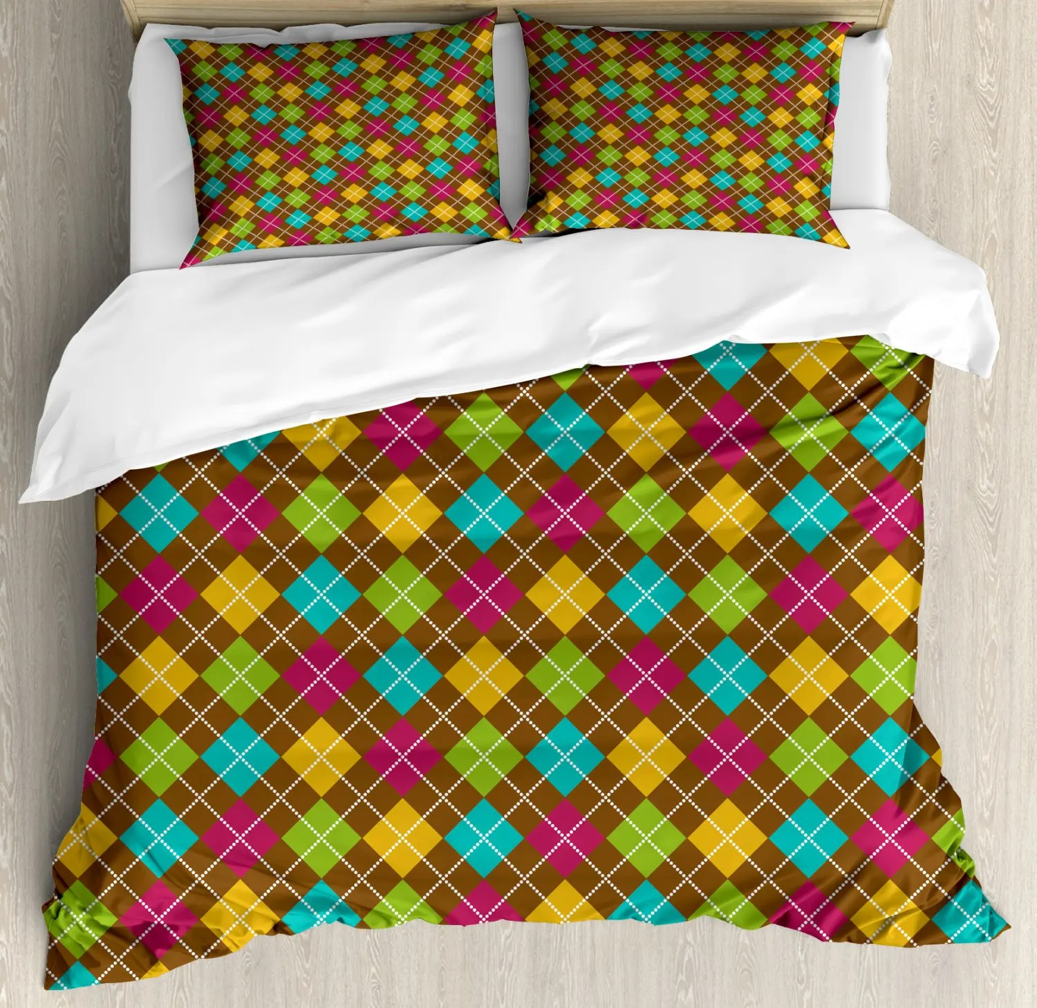 Black Friday Bettwäsche Geometric Duvet Cover Set With Pillow Shams Bold Pattern Print