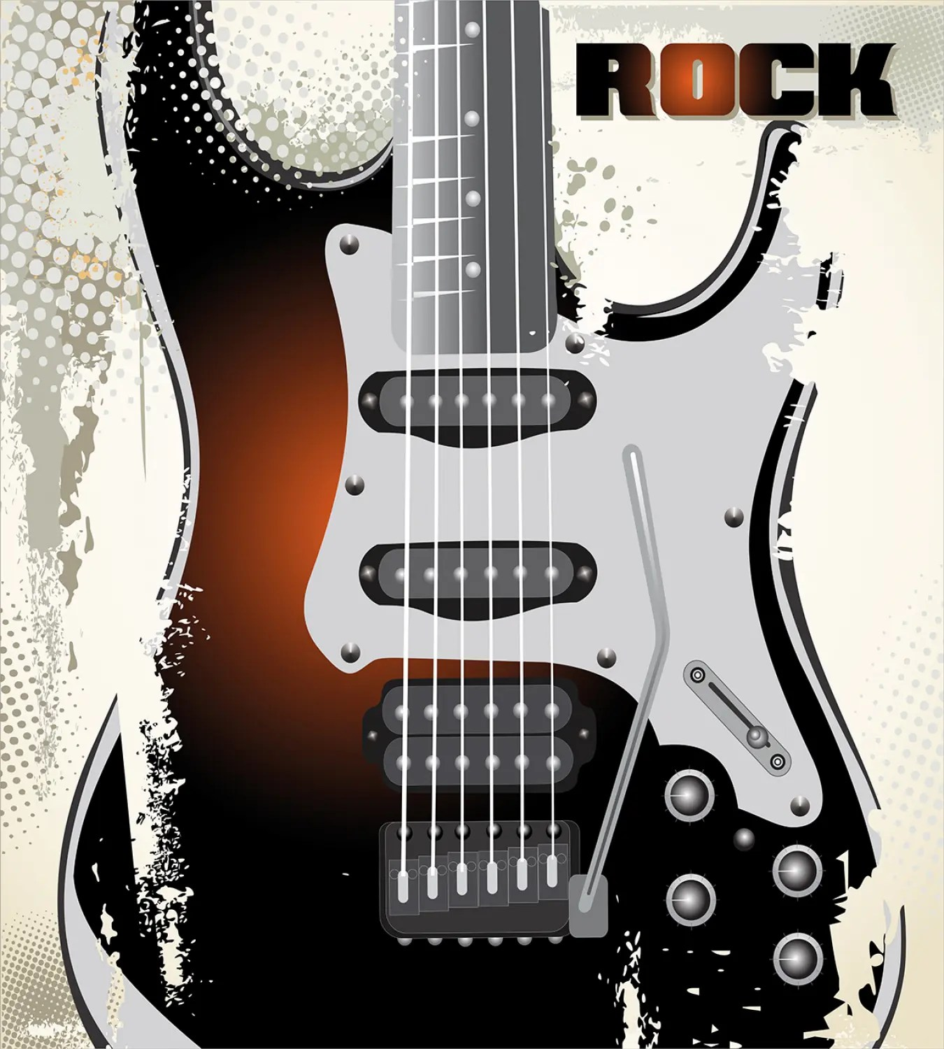 Rock Music Cover Details About Rock Music Duvet Cover Set With Pillow Shams Retro Grunge Guitar Print