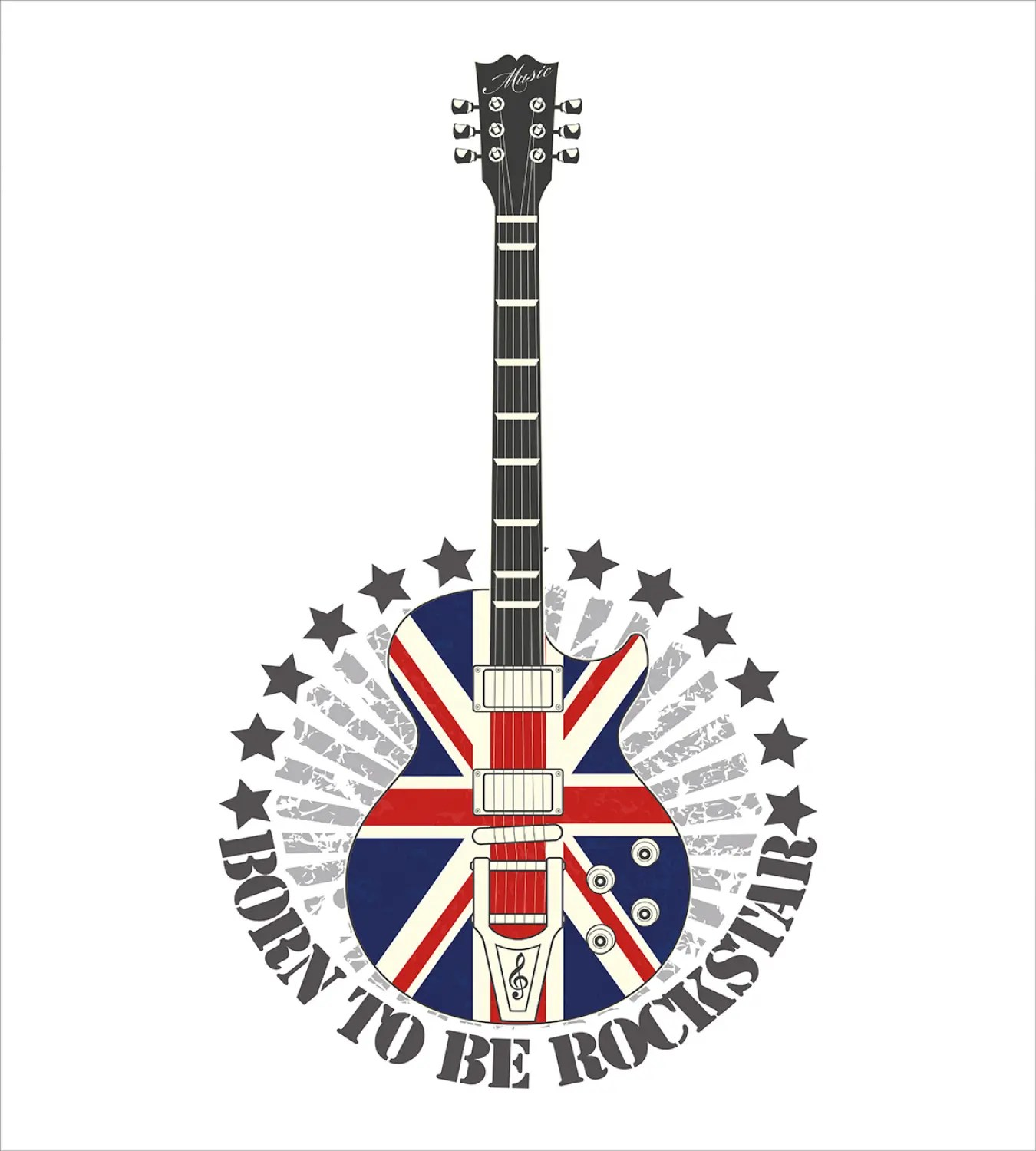 Rock Music Cover Details About Rock Music Duvet Cover Set With Pillow Shams England Flag Guitar Print