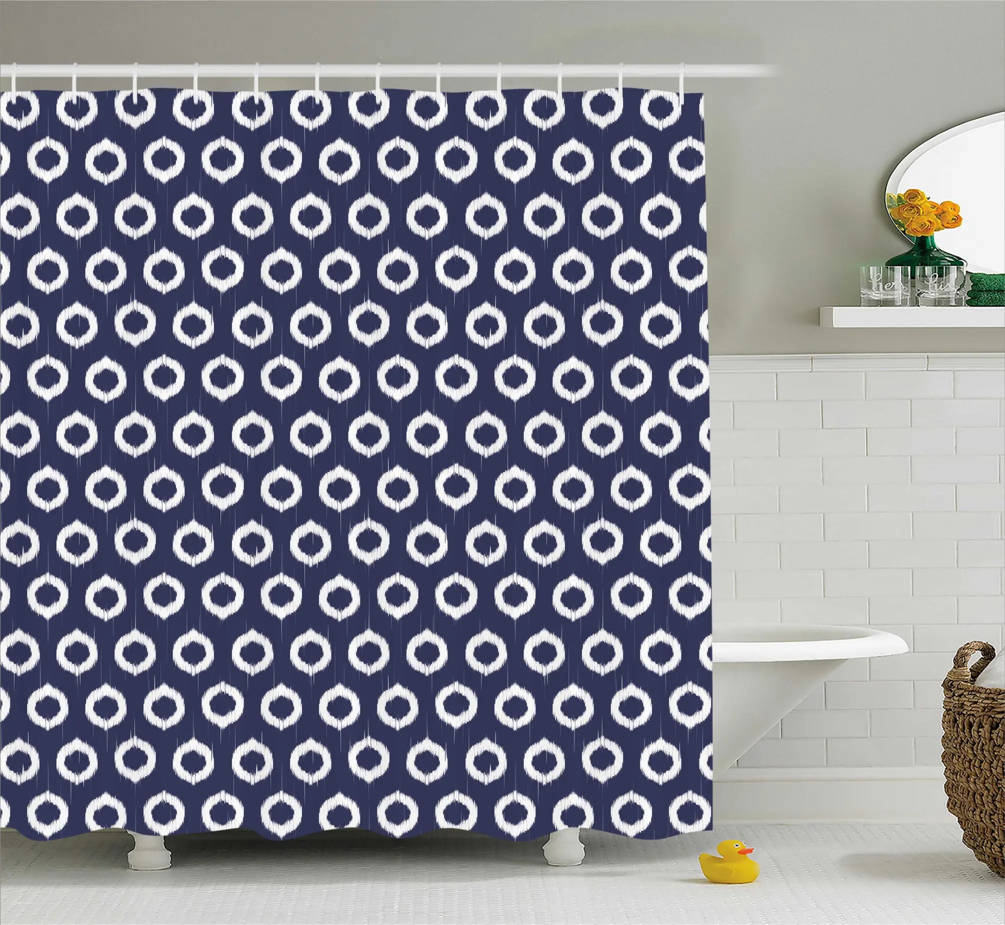 82 Shower Curtain Grunge Sketchy Design Shower Curtain
