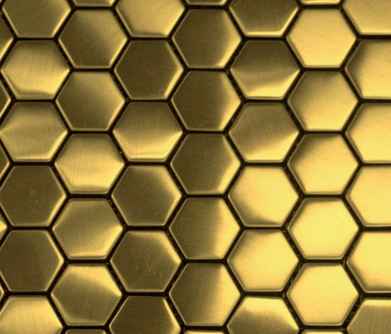 3d Wallpaper Mobile Apps Hexa Gold Metal Mosaics From The Inox In Color 174 Architonic