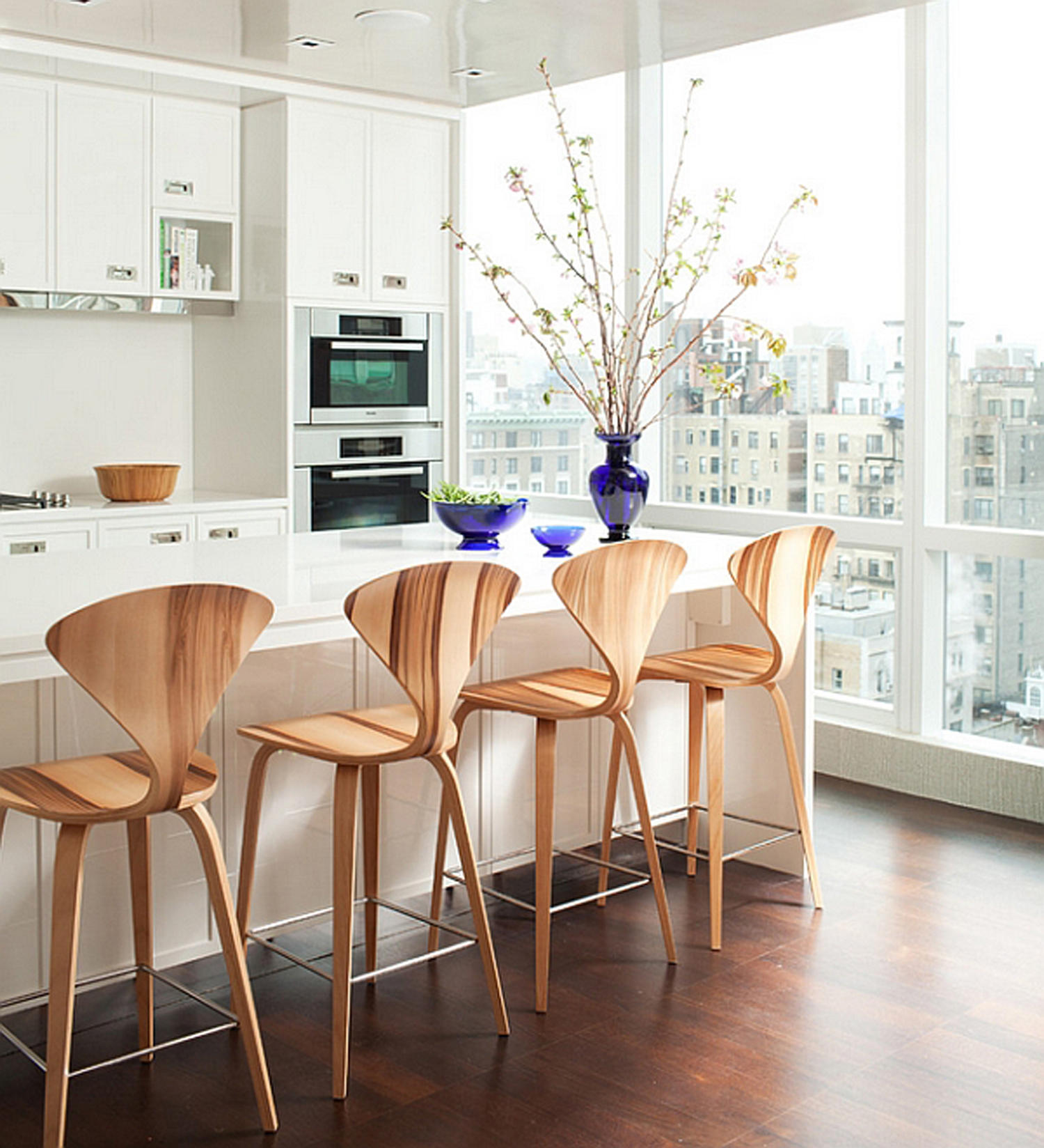 Kitchen Counter And Stools Cherner Wood Base Stool Bar Stools From Cherner Architonic