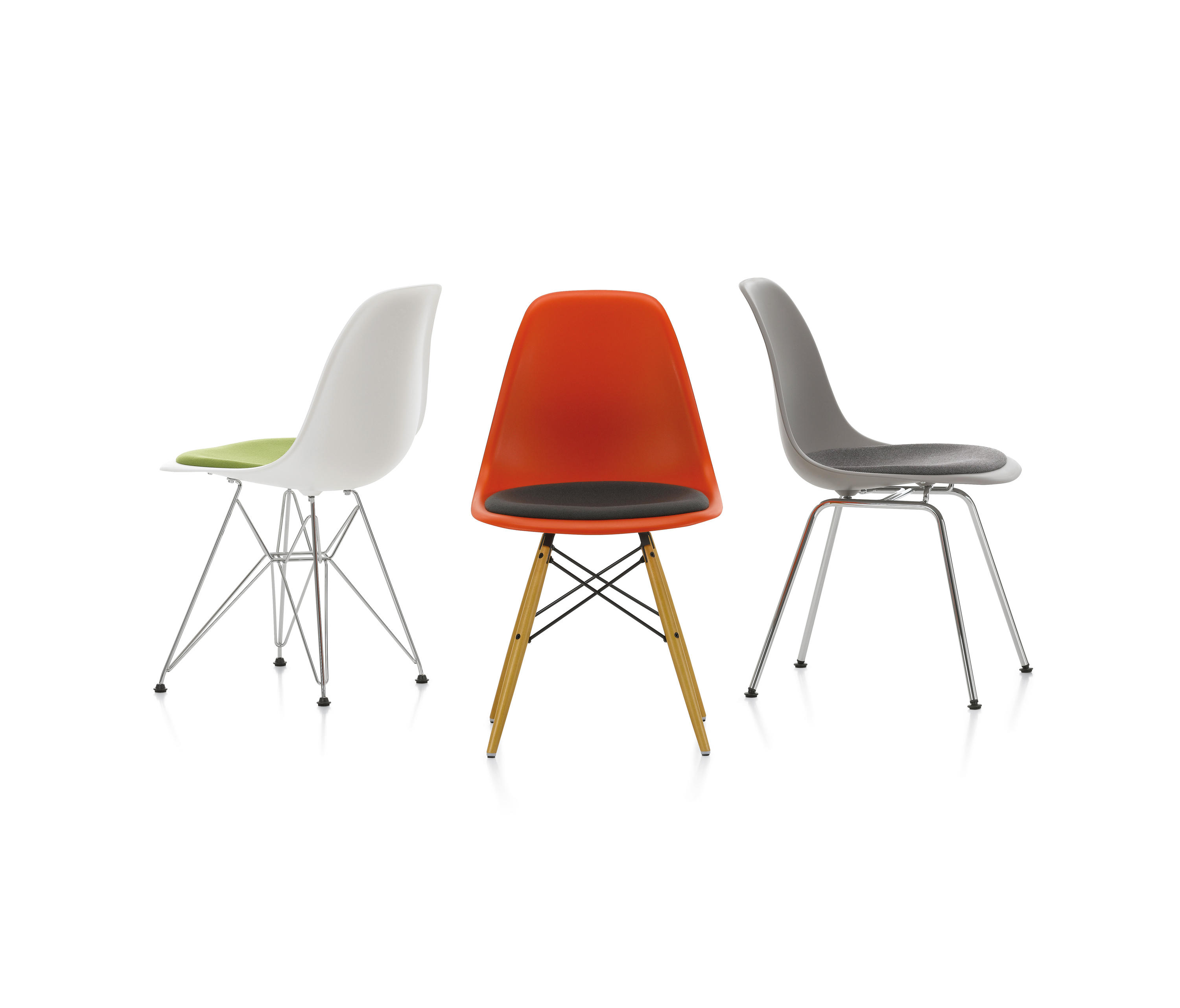 Sedia Eames Dws Eames Plastic Side Chair Dsw Chairs From Vitra Architonic