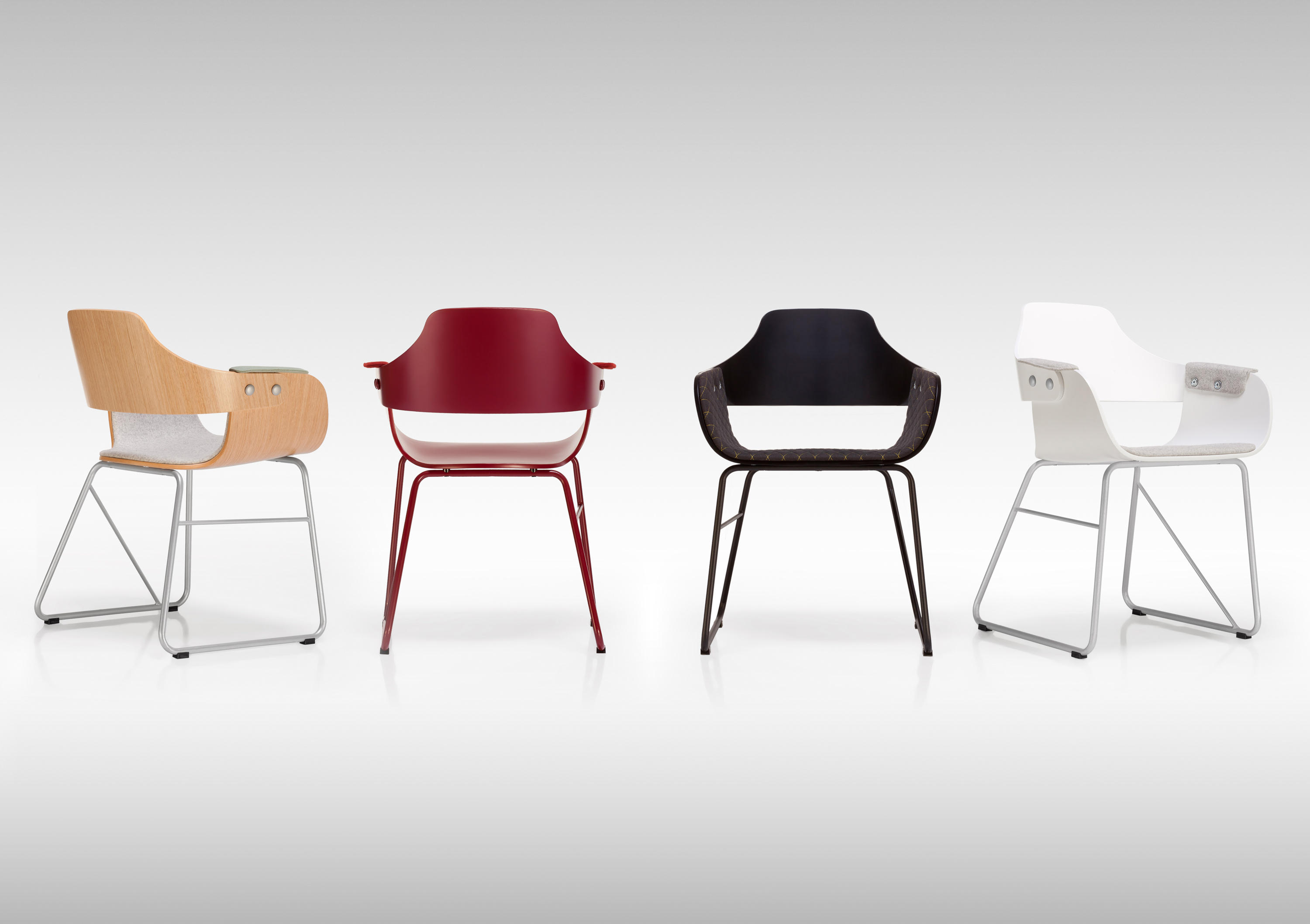 Wood Barcelona Chair Showtime Act Ii Chair Visitors Chairs Side Chairs From
