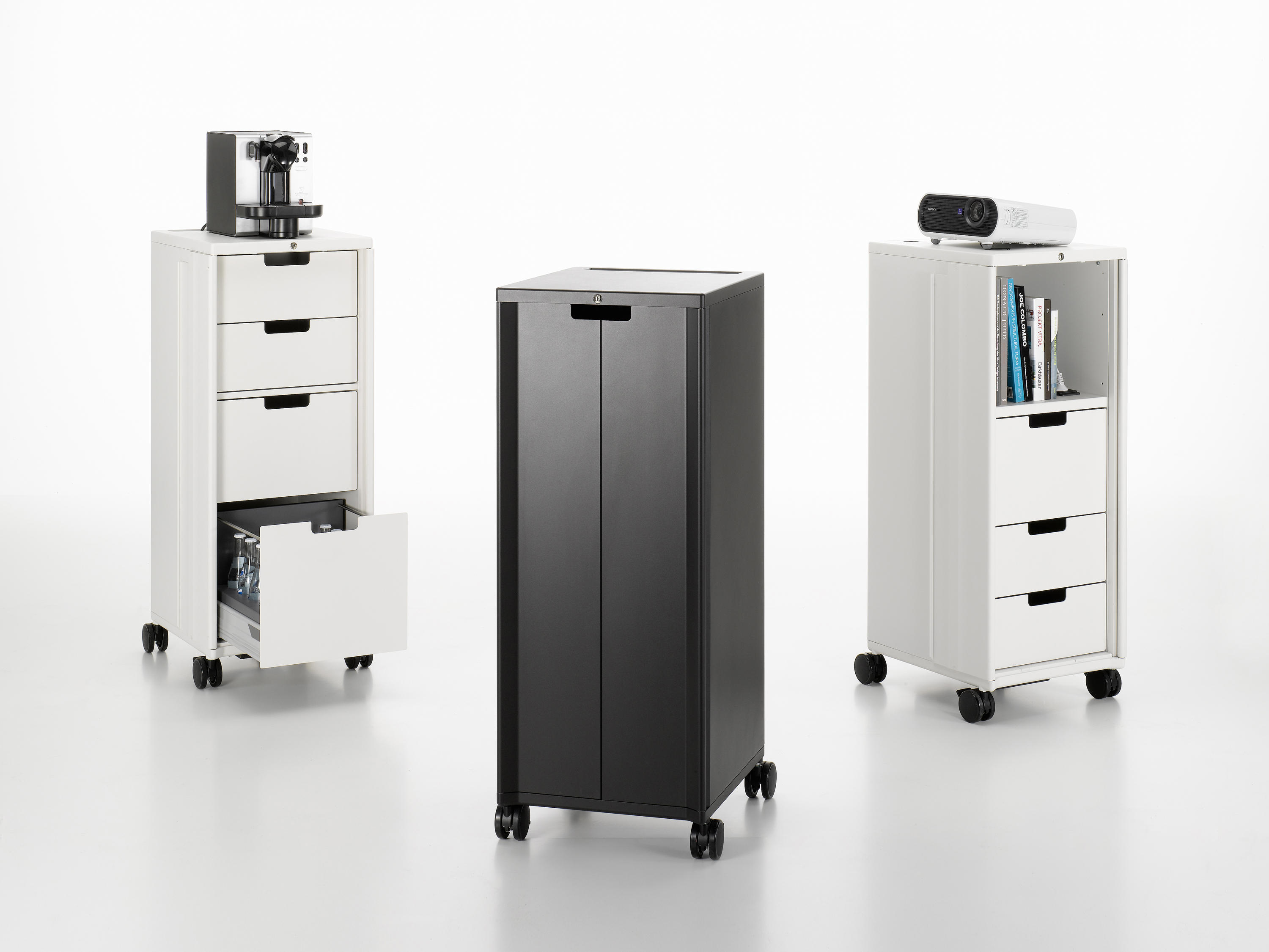 Vitra Mobile Elements Caddy Standard Cabinets From Vitra Architonic