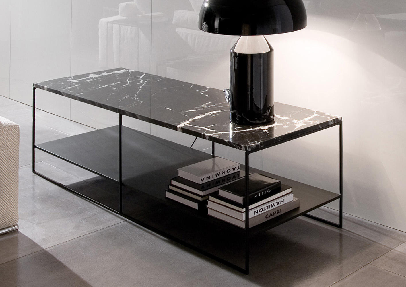 Couchtisch Marmoroptik Calder Tables Basses De Minotti Architonic