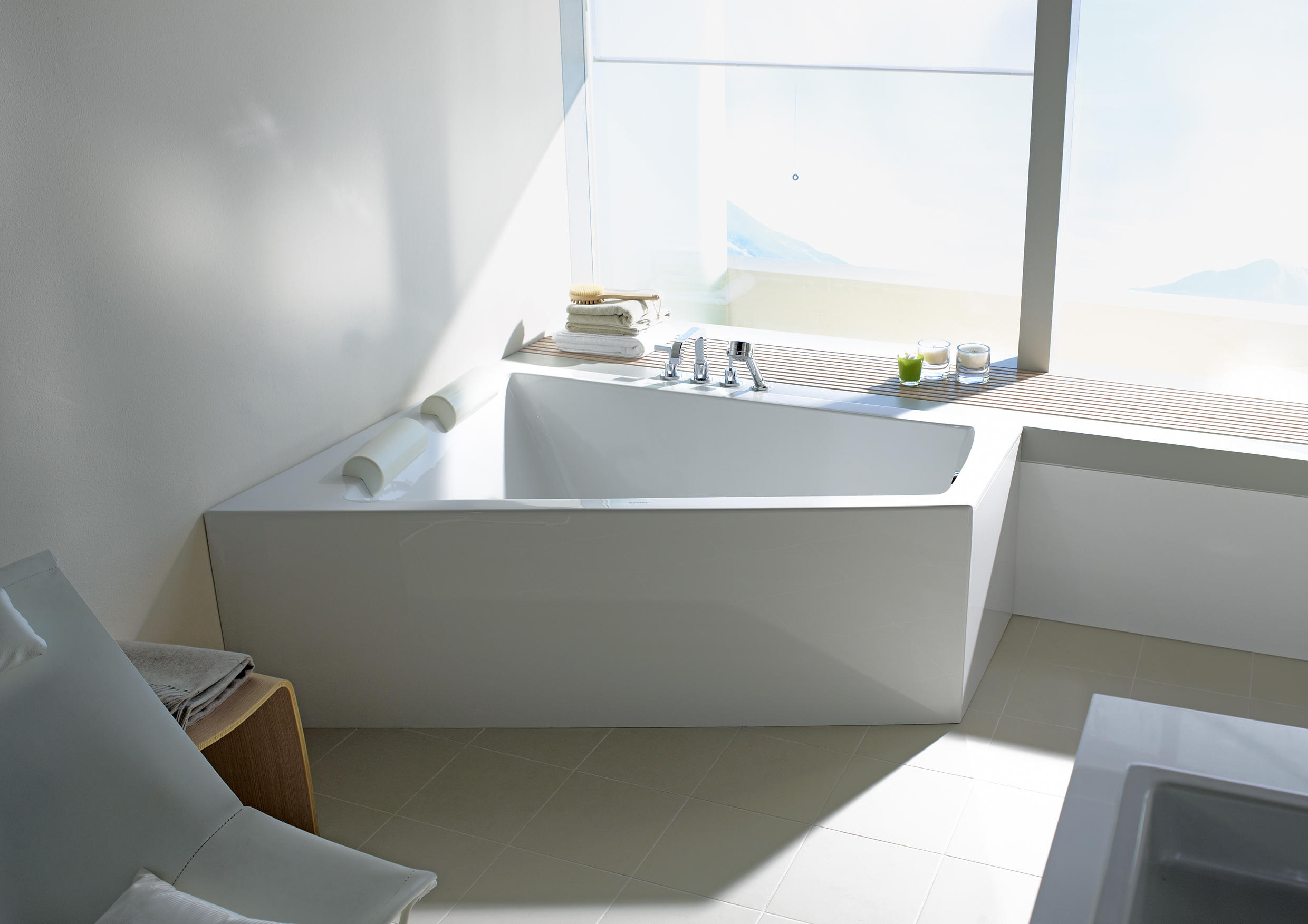 Freistehend Trapez Paiova Bathtub Built In Bathtubs From Duravit Architonic