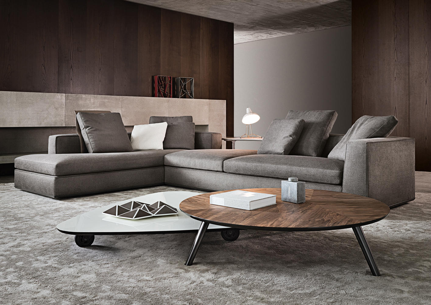 Eckcouch Modern Powell Sofas From Minotti Architonic