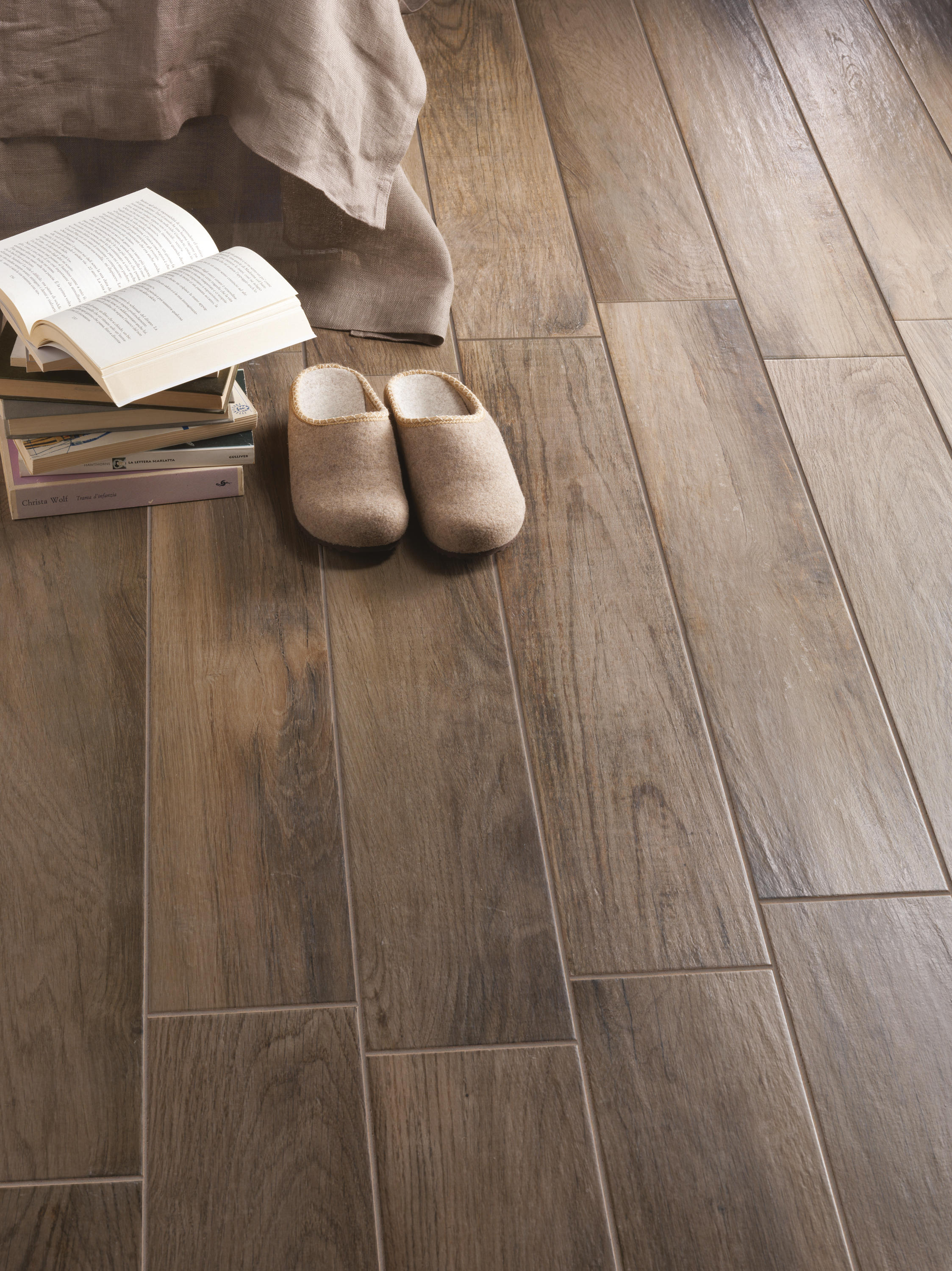 Porcelain Floor Tiles Treverkmood Mogano Ceramic Tiles From Marazzi Group