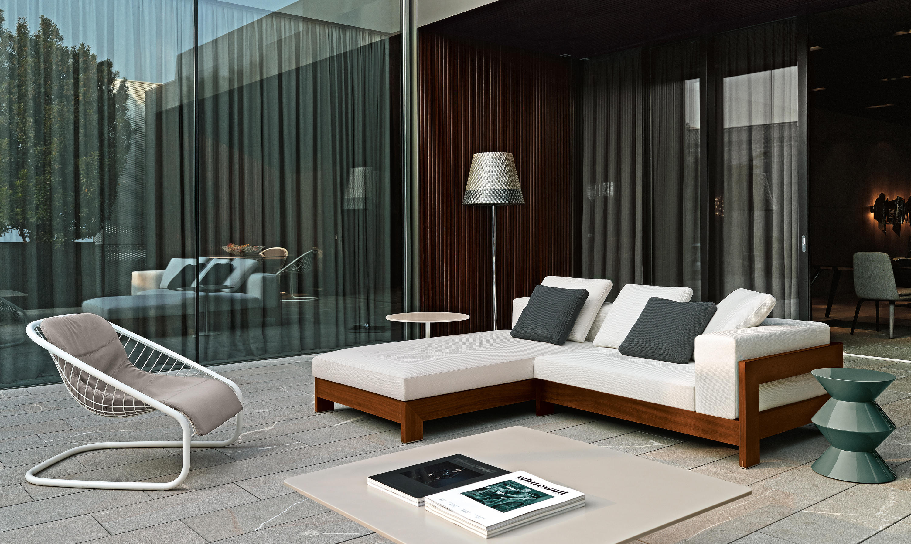 "Modern Sofas Cad Blocks Alison ""dark Brown"" Outdoor - Sofas From Minotti 