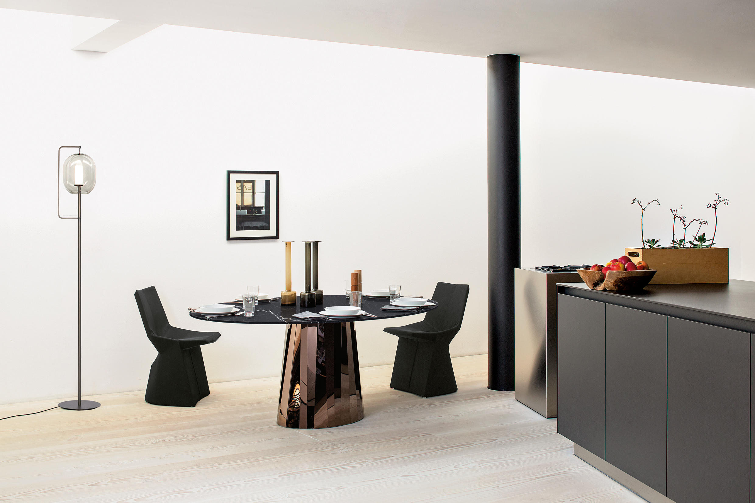 Pli Side Table High Black Glossy Side Tables From