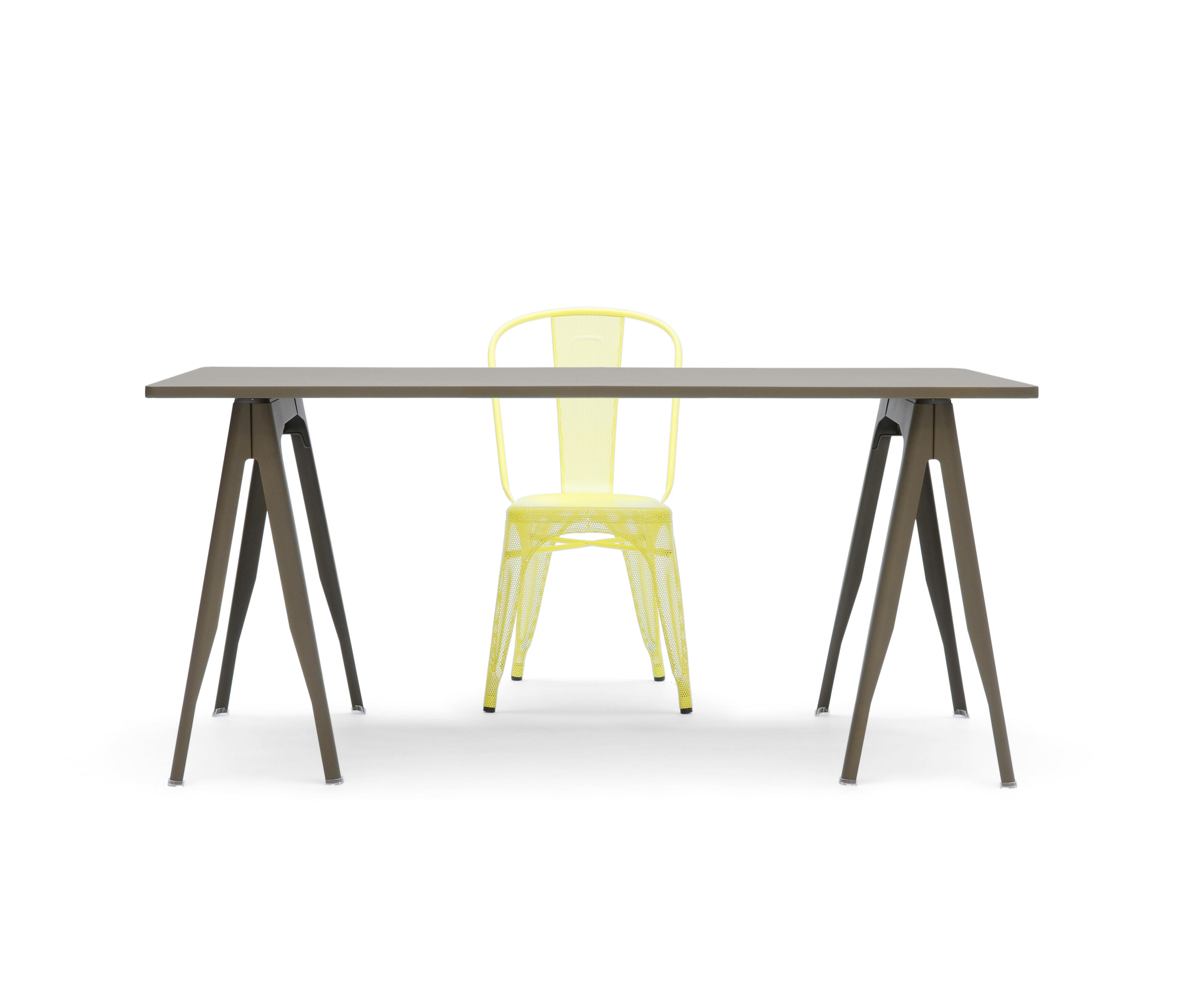 Bureau Tolix Y Trestle Trestles From Tolix Architonic
