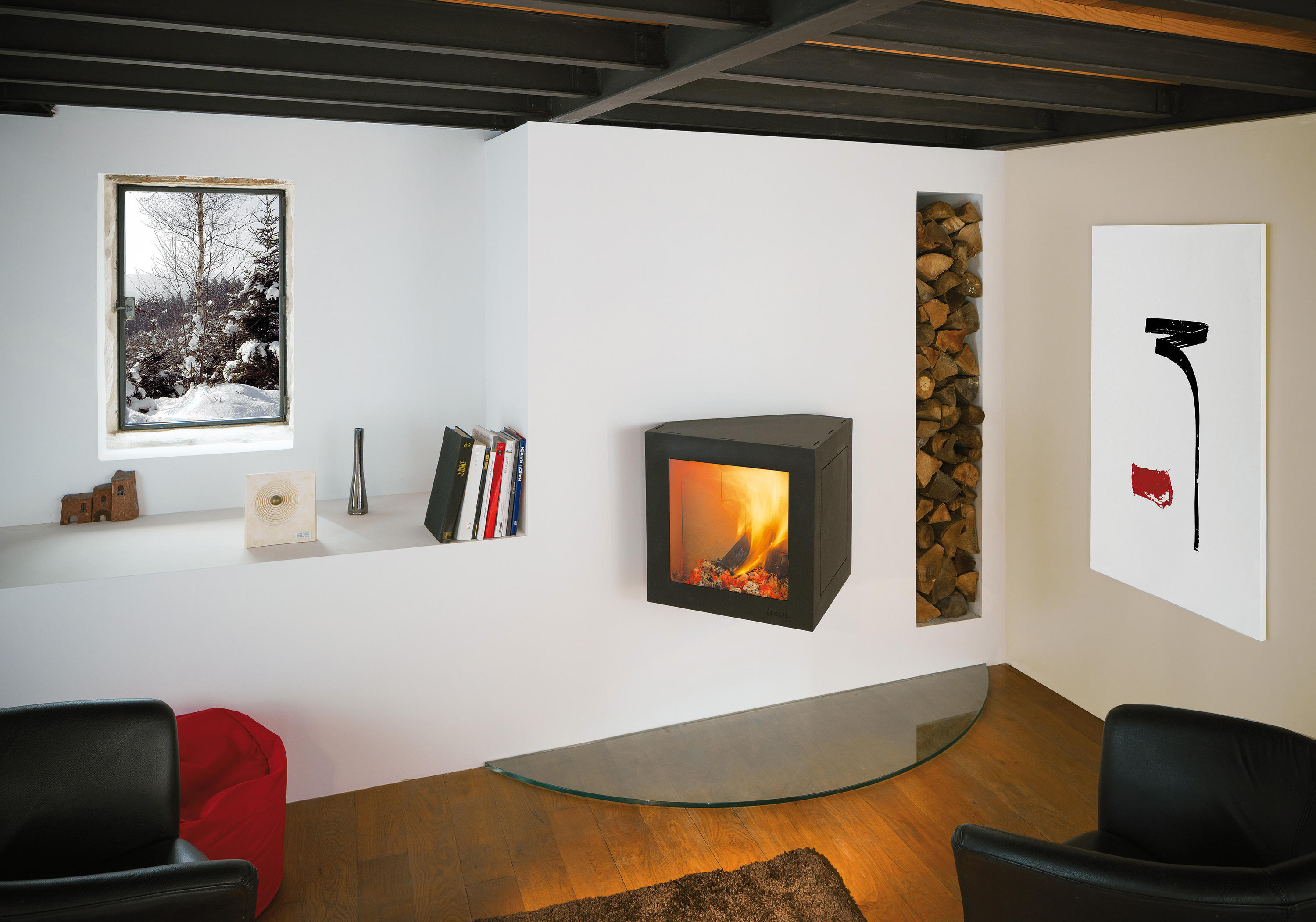 Cheminées Viols Le Fort Cubifocus Stoves From Focus Architonic