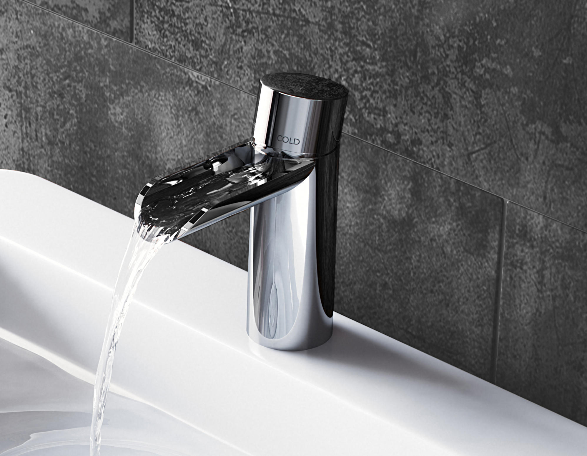 Bagnodesign Princess Nouveau Cascade Mono Basin Mixer Wash Basin Taps From Bagnodesign