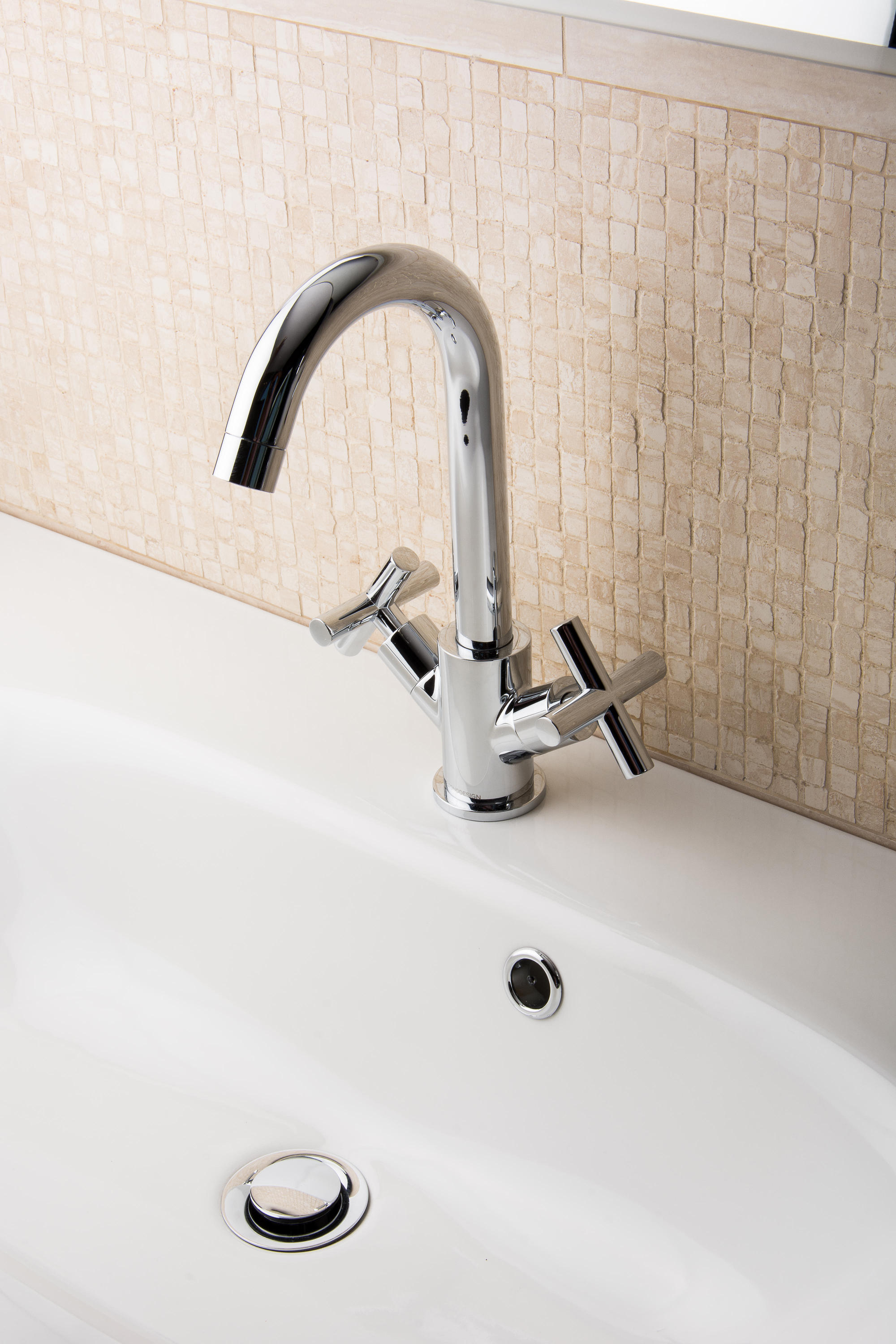 Bagnodesign Basin Taps Ibiza Mono Basin Mixer With Pop Up Waste Wash Basin Taps From