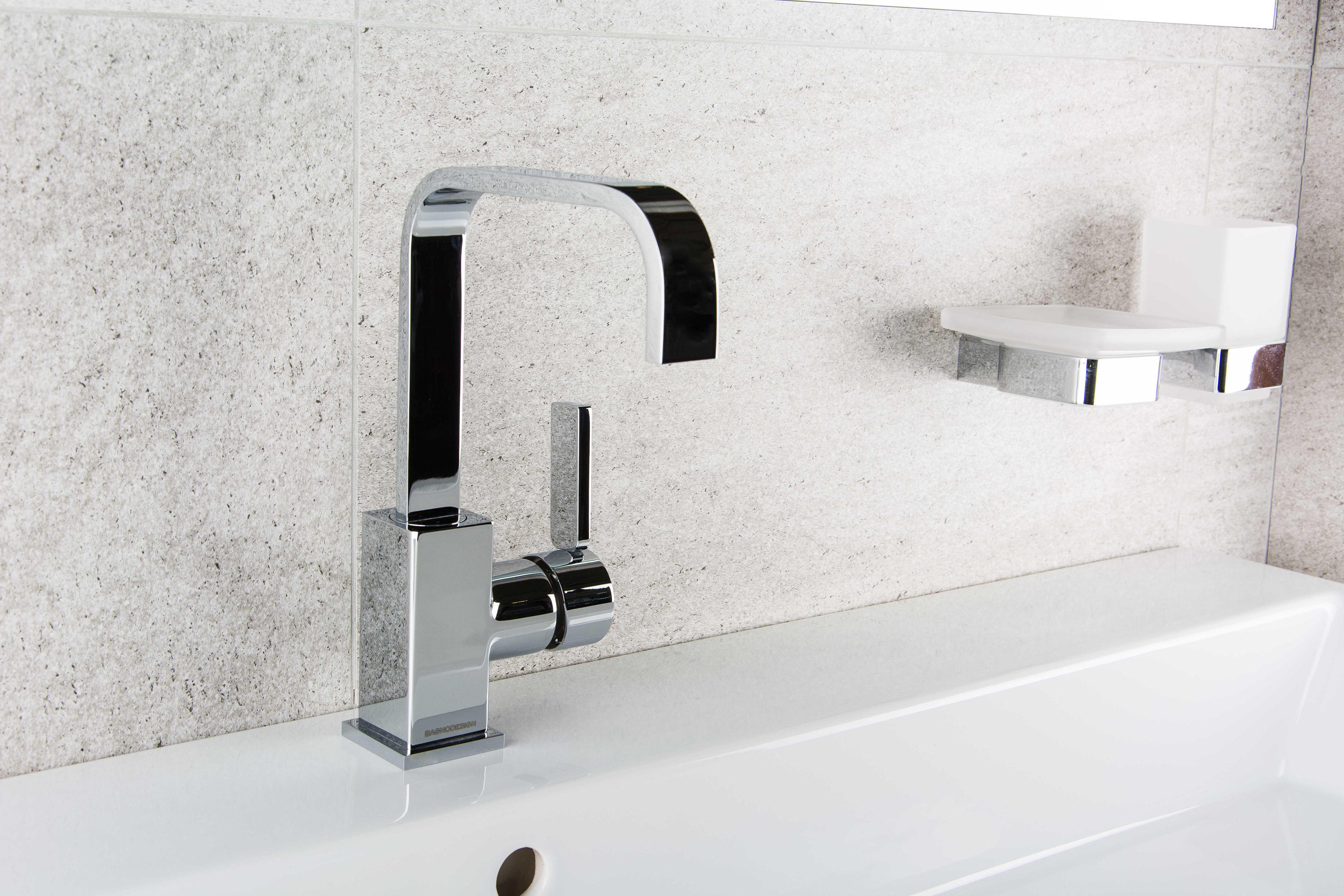 Bagno Design Bradford Smooth Deck Mounted Infrared Tap Wash Basin Taps From