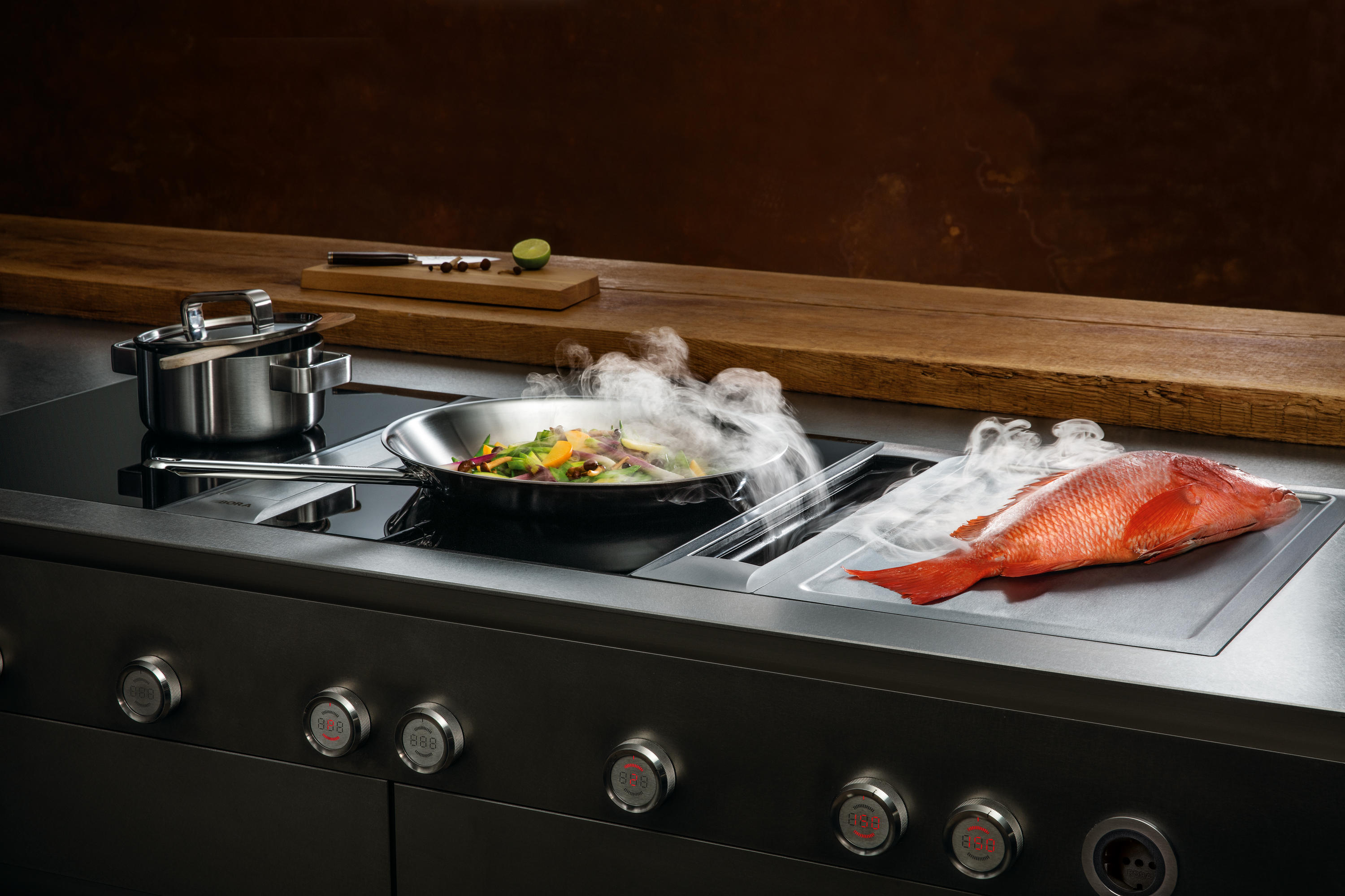Küche Bora System Pkas Cooktop Extractor System Extractors From Bora