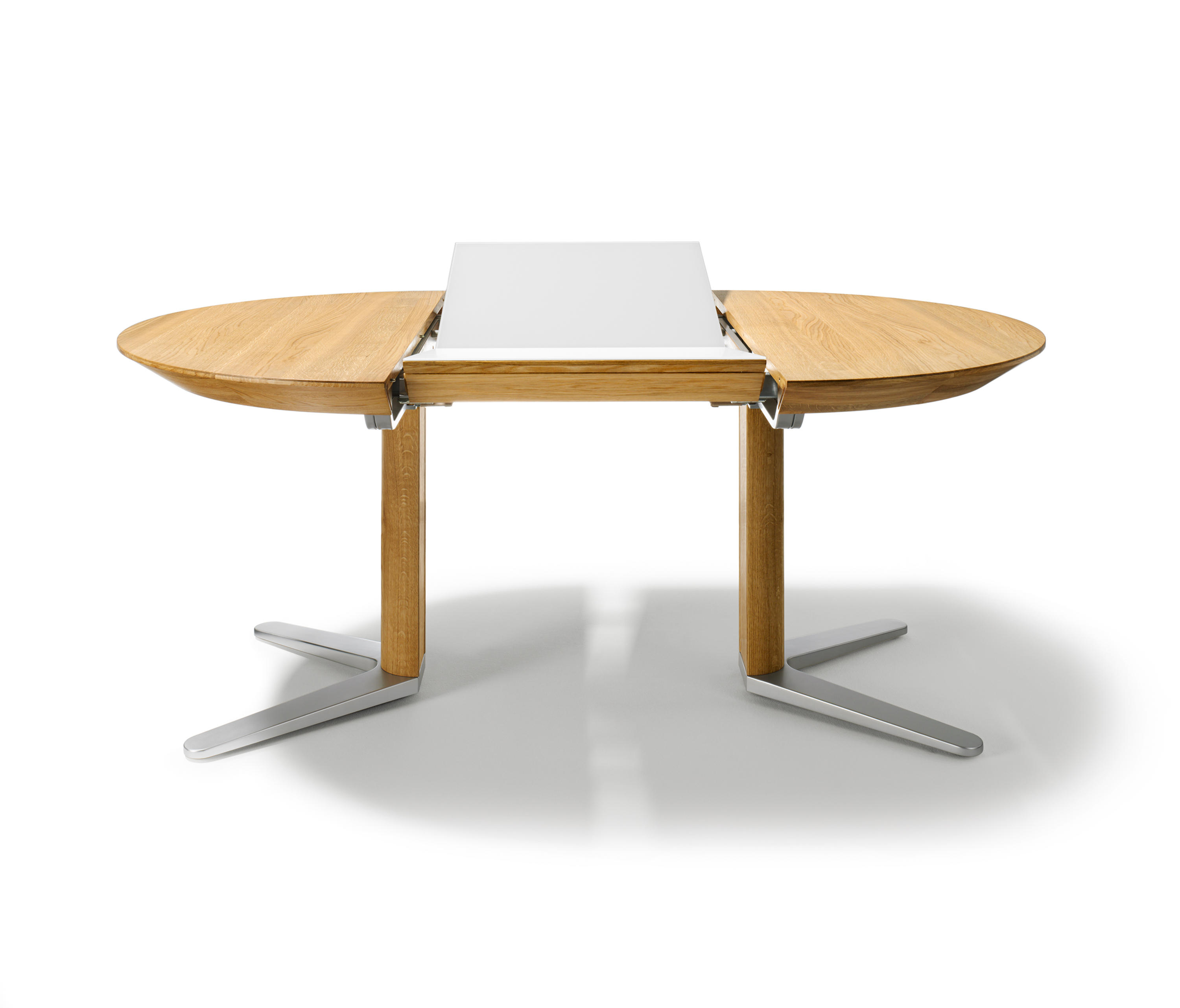 Table Ronde 100 Cm Avec Rallonge Girado Extension Table Dining Tables From Team 7