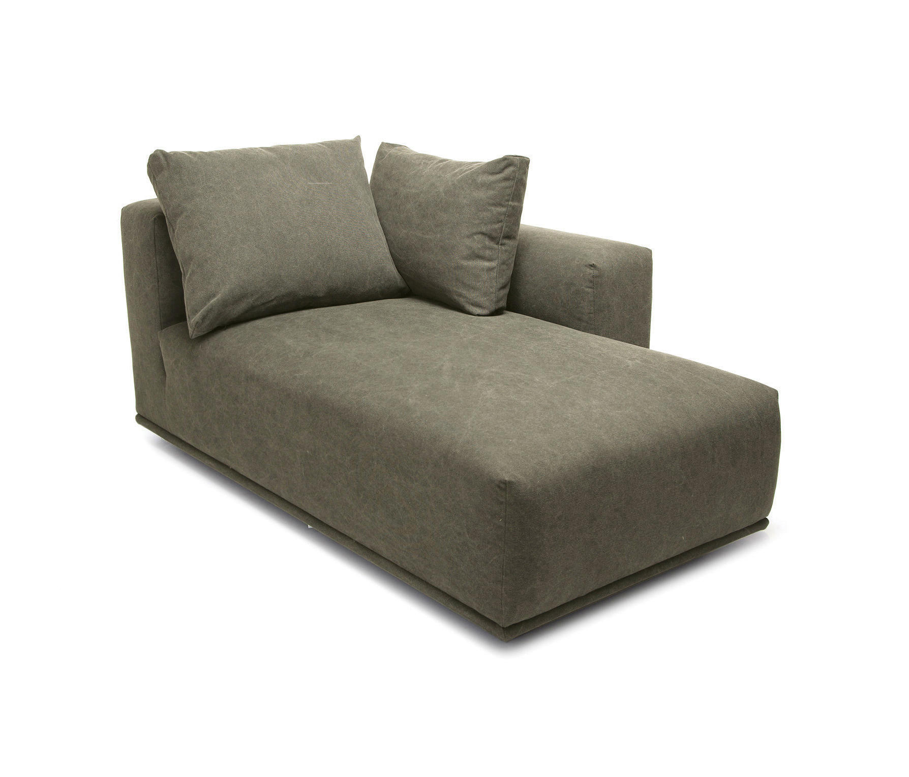 Chaises Longues Madonna Sofa Chaise Longue Left Canvas Washed Green 156