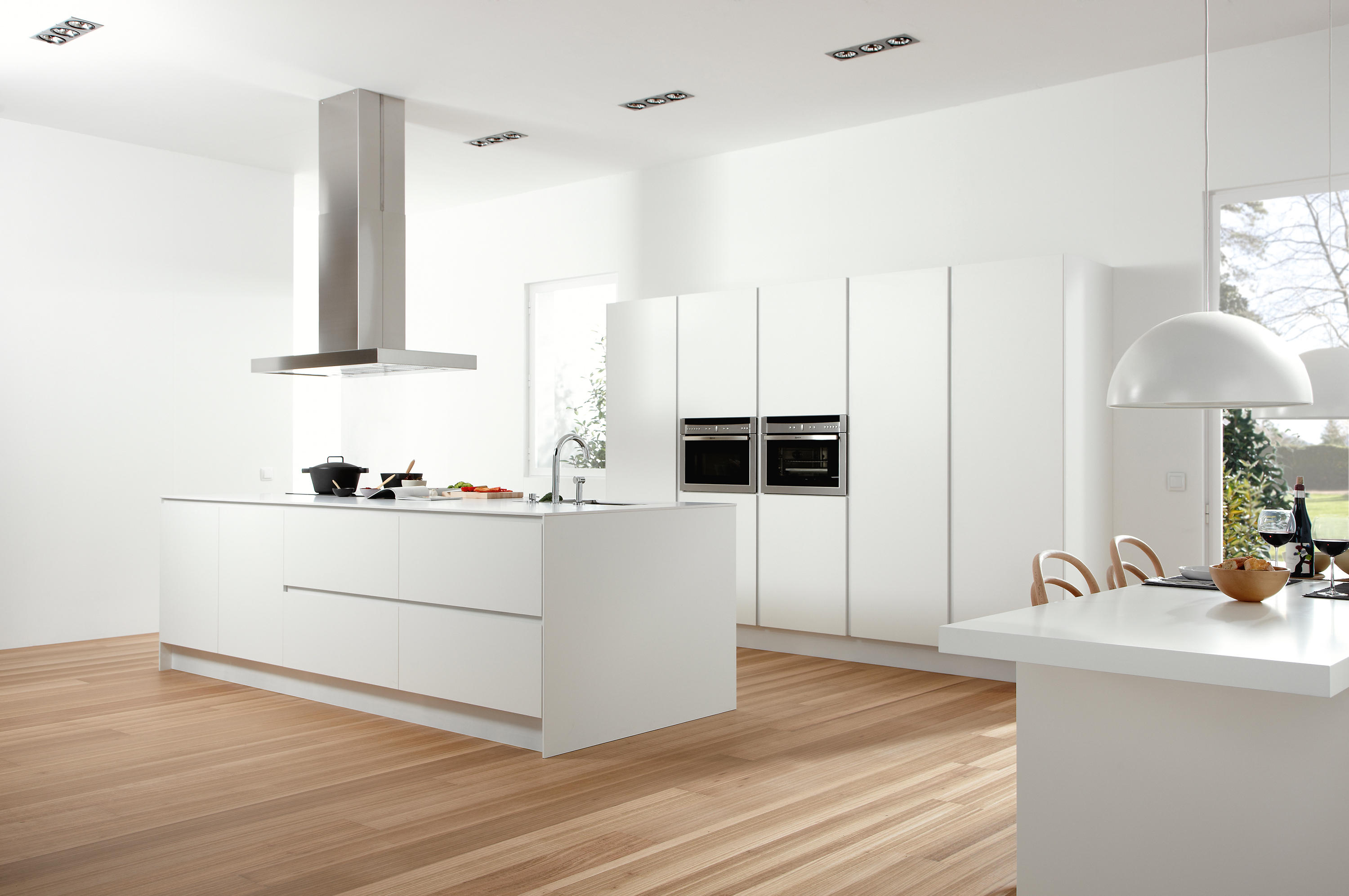 Cocinas Dica Serie 45 Polar White Island Kitchens From Dica