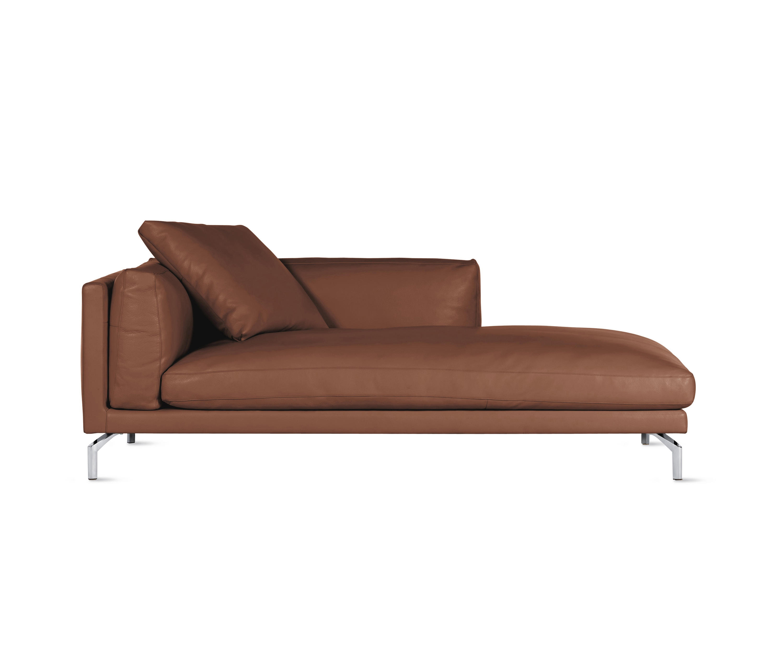 Design Chaise Como Chaise In Leather Right Recamieres From Design