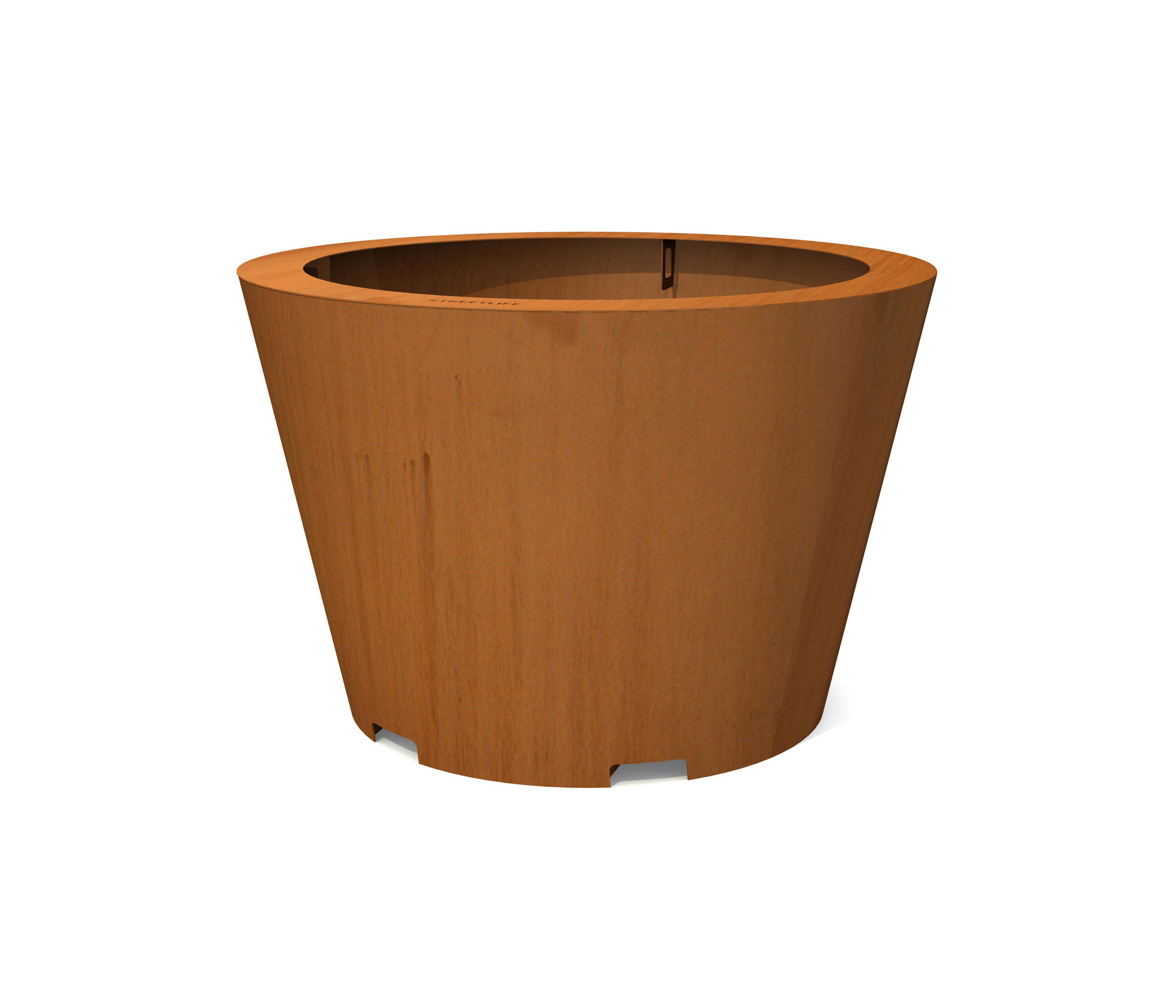 Led Plantenbak Corten Conical Tree Tubs Plant Pots From Streetlife Architonic